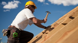 Carpenter on a Roof