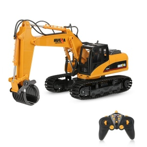 HUINA TOYS NO.1570 2.4G 16CH RC Excavator Timber Grab Crawler Truck